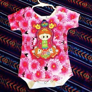 Baby Onesie Virgencita Lady of Guadalupe Baby 9-12